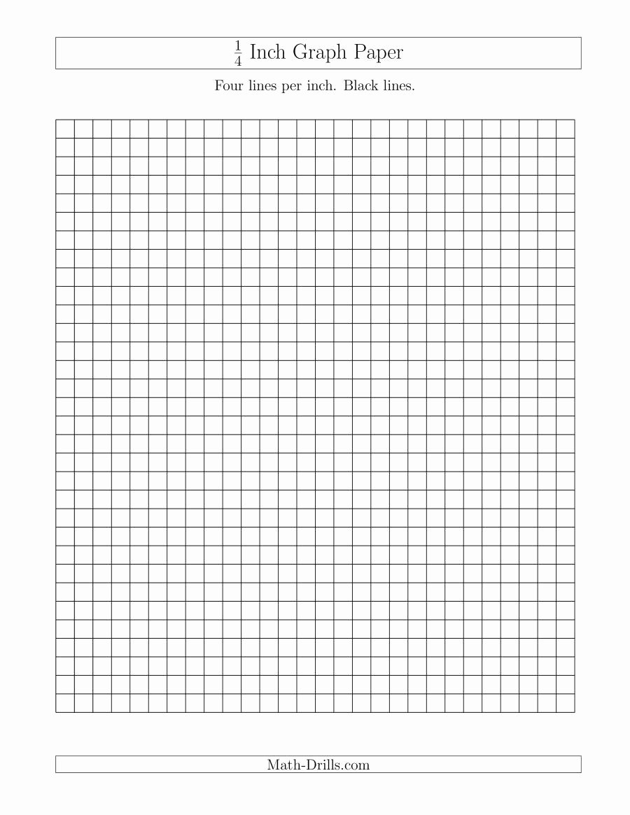 1 Inch Square Grid Paper Best Of 1 4 Inch Graph Paper with Black Lines A Graph Paper