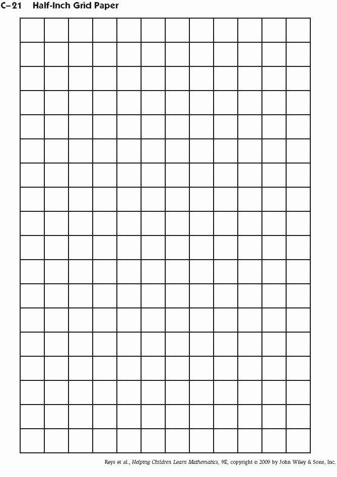 1 Inch Square Grid Paper Elegant Half Inch Grid Paper Printable School Ideas
