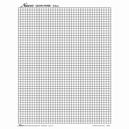 "1 Inch Square Grid Paper Fresh Nasco Tb T Graph Paper 0 5cm Squares 11 X 8 1 2"" 100"