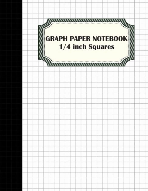 1 Inch Square Grid Paper New Graph Paper Notebook 1 4 Inch Squares Graphing Paper