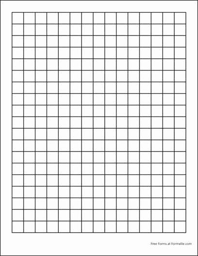 1 Inch Square Grid Paper Unique Printable Graph Paper 1 Inch Squares 1 Inch Grid Paper