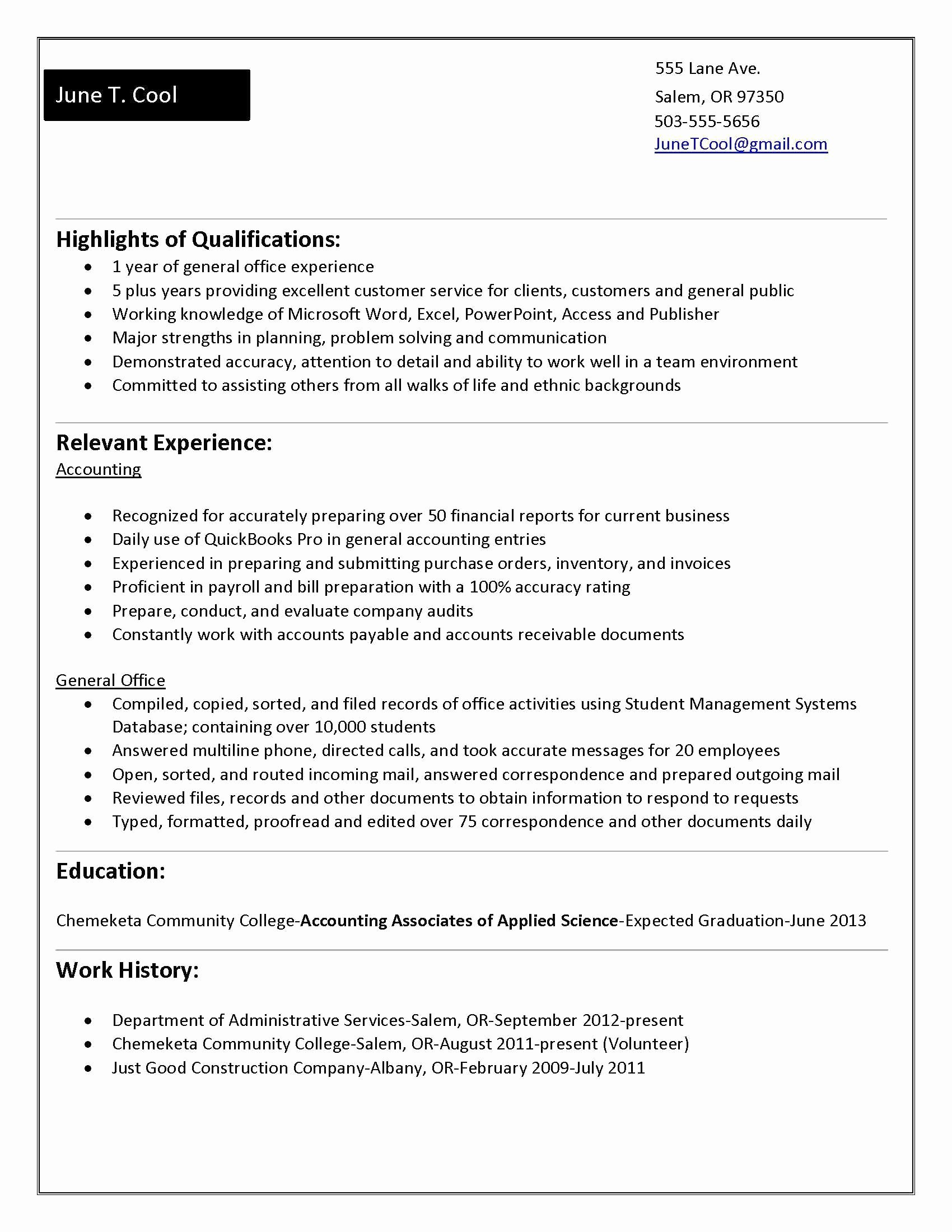 10 Years Experience Resume format Fresh for 5 Years Experience In Accounting
