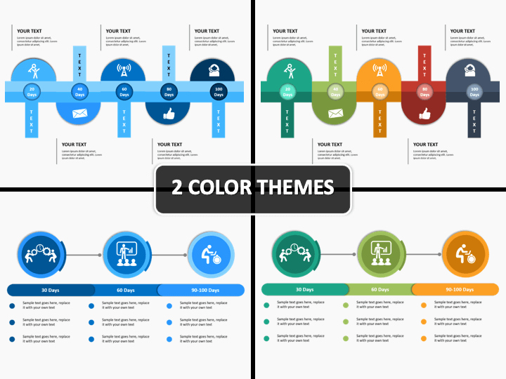 100 Day Plan Example Awesome 100 Day Plan Powerpoint Template