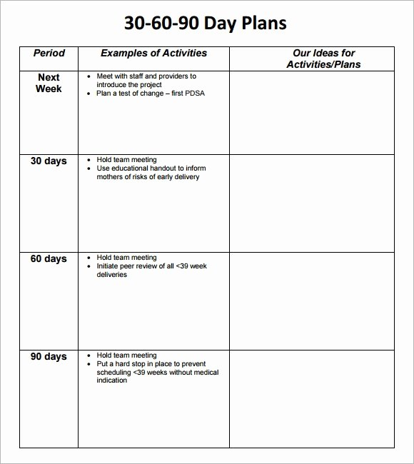 100 Day Plan Example Lovely 30 60 90 Day Plan Template 8 Free Download Documents In Pdf