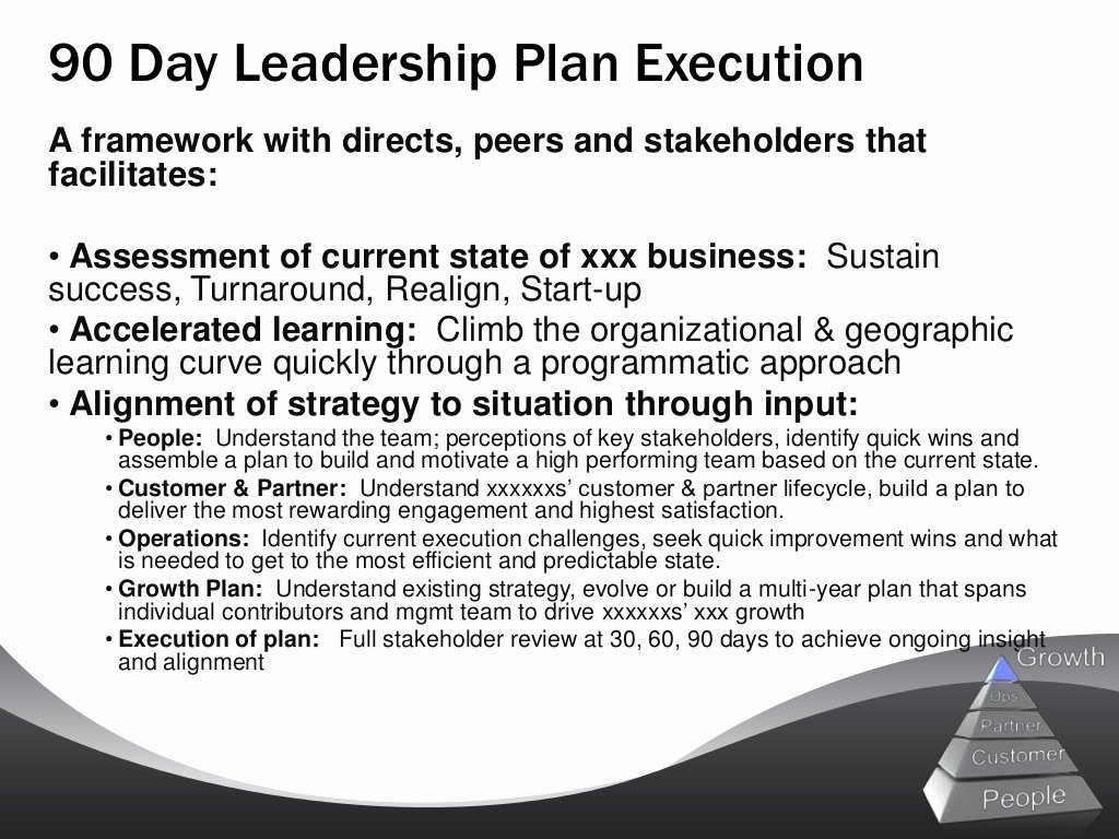 100 Day Plan Example Lovely Sample 90 Day Leadership Plan