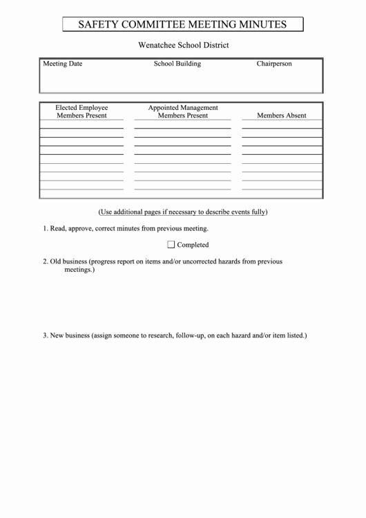 12 Step Meeting attendance Sheet Inspirational top 6 Safety Meeting Templates Free to In Pdf format