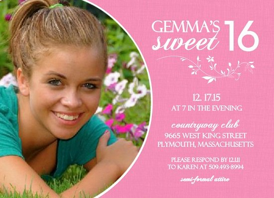 16th Birthday Invitation Templates Free Awesome 16th Birthday Invitations Ideas for Her – Bagvania Free