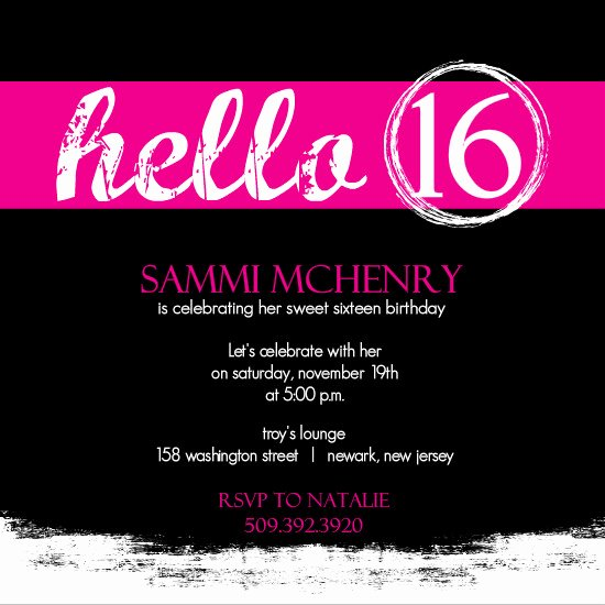 16th Birthday Invitation Templates Free Best Of Invitations for Sweet 16th Birthday Party