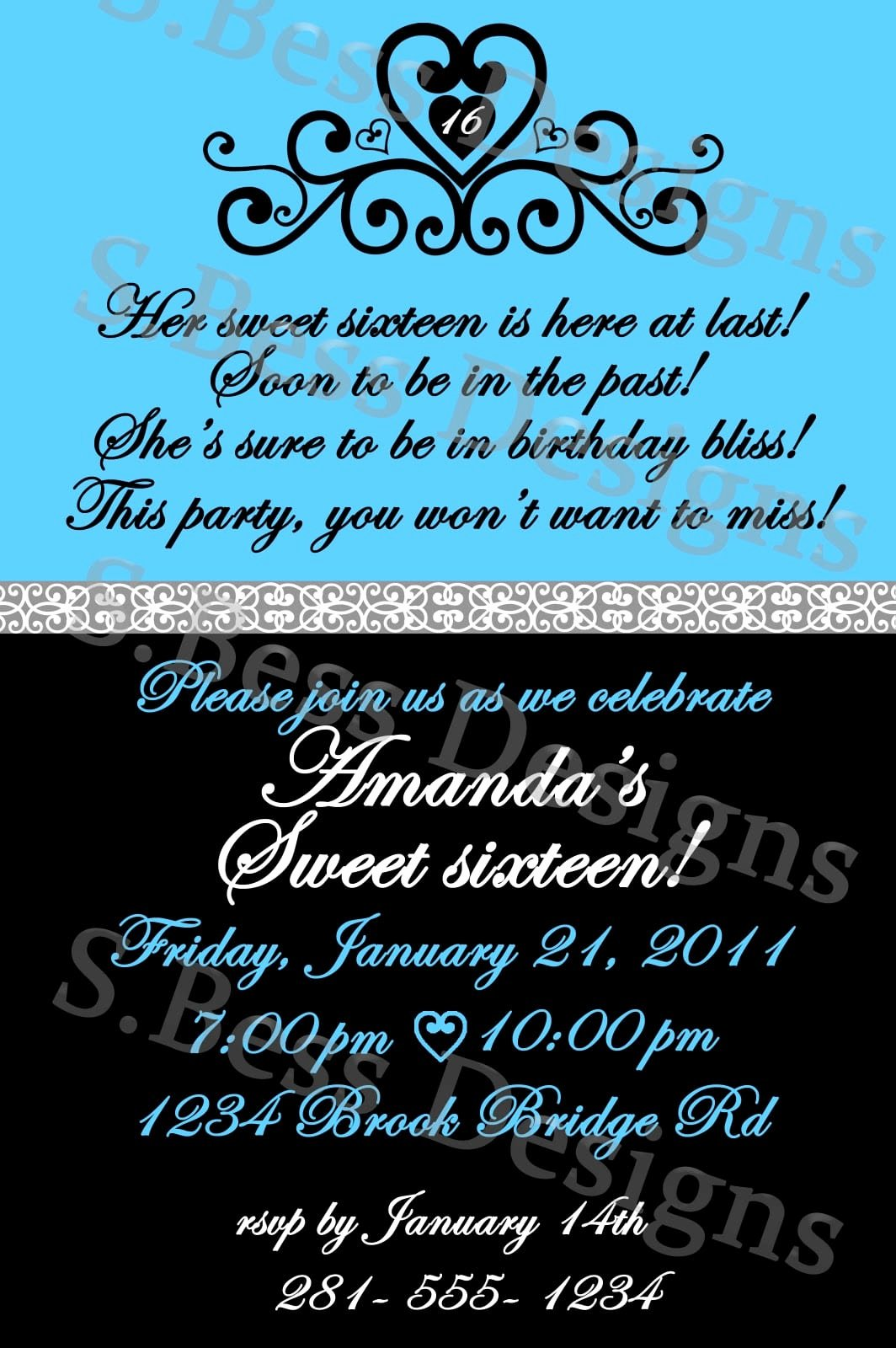 16th Birthday Invitation Templates Free Fresh Free Sweet 16 Invitation Template
