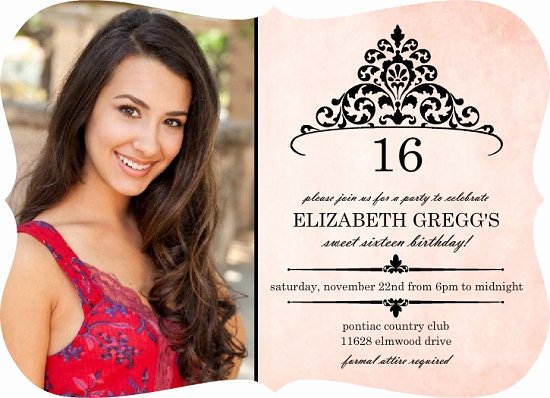16th Birthday Invitation Templates Free Inspirational 16th Birthday Invitations Ideas for Her – Bagvania Free