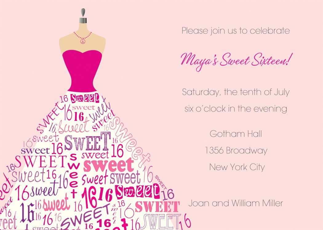 16th Birthday Invitation Templates Free Inspirational Sweet 16th Birthday Invitations Templates Free