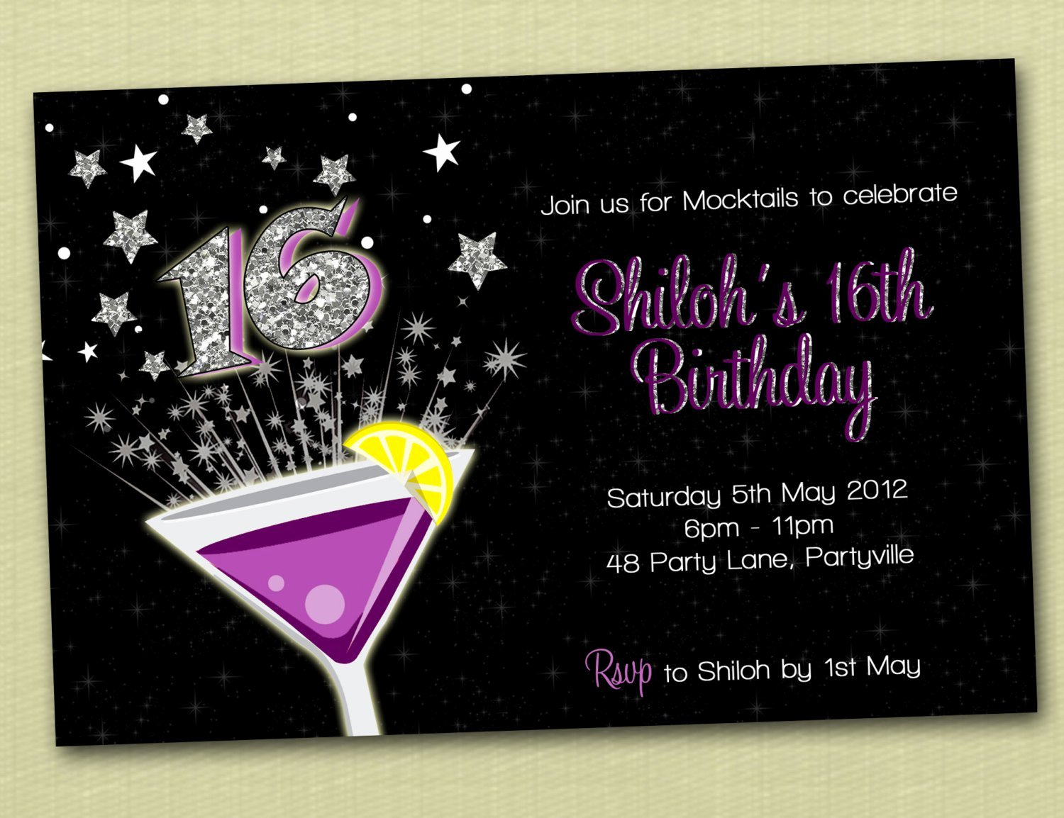 16th Birthday Invitation Templates Free Lovely Boys 16th Birthday Invitations