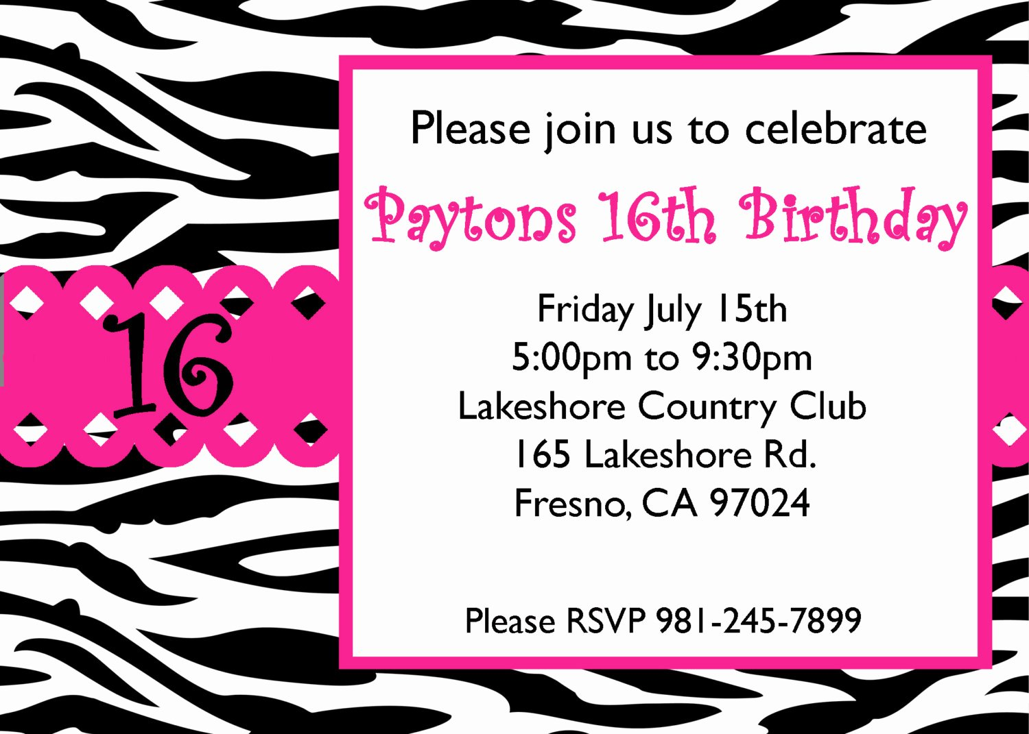 16th Birthday Invitation Templates Free Luxury Free Sweet 16 Birthday Invitations Templates