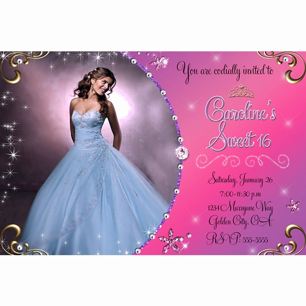 16th Birthday Invitation Templates Free Luxury Invitation Templates for Sweet 16 Party