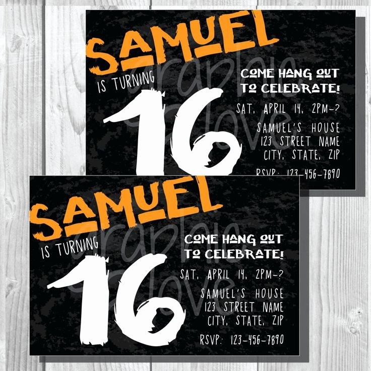16th Birthday Invitation Templates Free New Best 25 Boy 16th Birthday Ideas On Pinterest