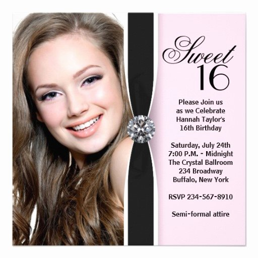 16th Birthday Invitation Templates Free Unique 16th Birthday Invitations Ideas for Her – Free Printable