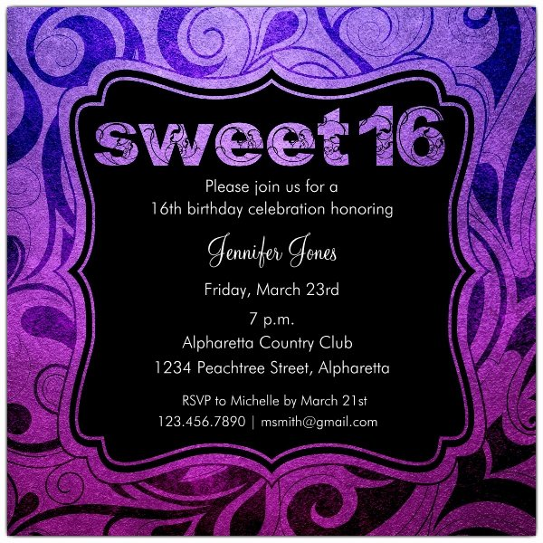 16th Birthday Invitation Templates Free Unique Brilliant Emblem Sweet 16 Birthday Party Invitations