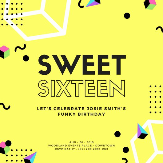 16th Birthday Invitation Templates Free Unique Sweet 16 Invitation Templates Canva