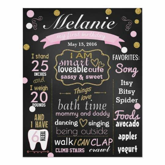 1st Birthday Chalkboard Sign Template Beautiful First Birthday Chalkboard Sign Confetti