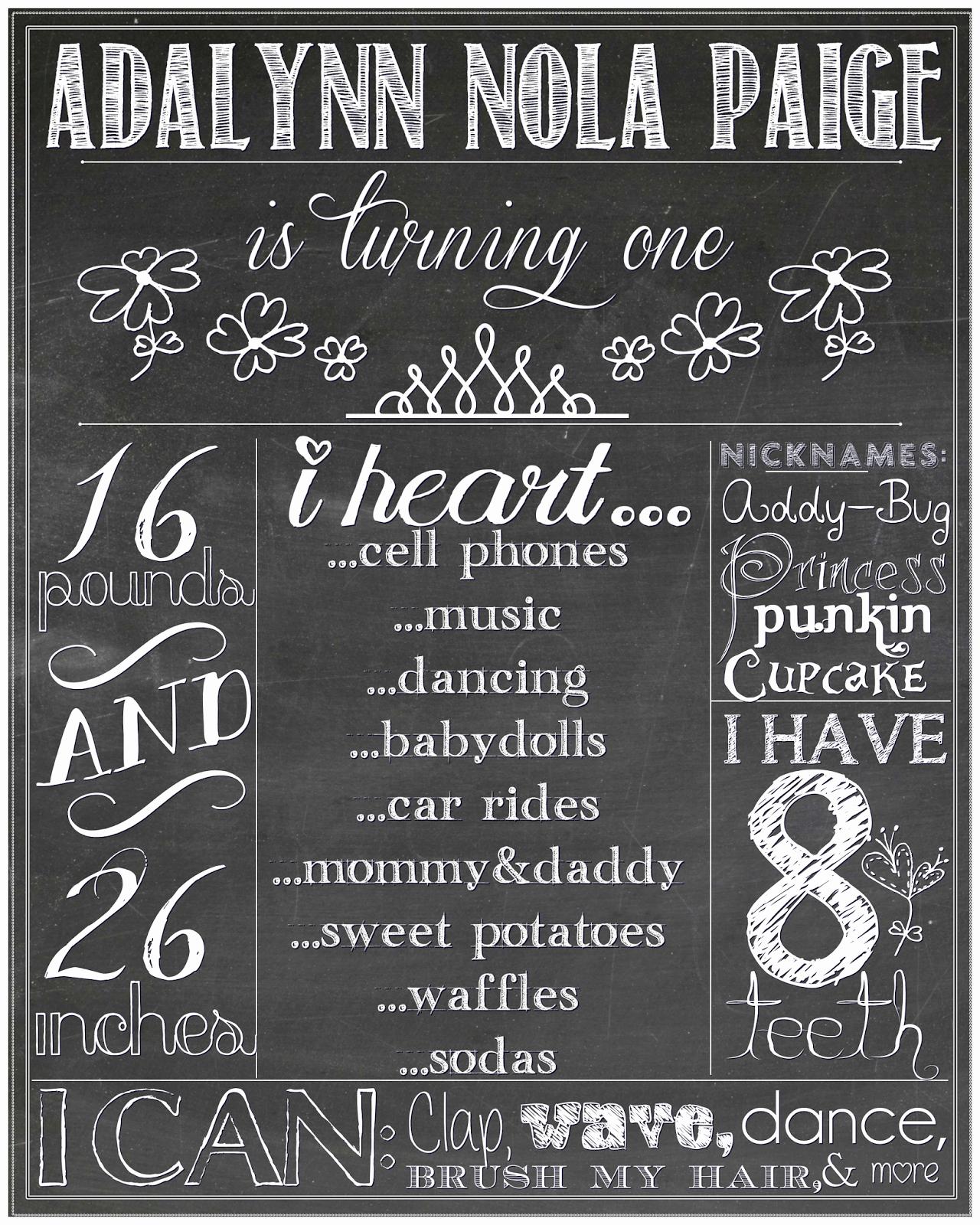 1st Birthday Chalkboard Sign Template Fresh Blogging Momma Barbie Printable Chalkboard Sign Tutorial