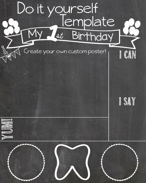 1st Birthday Chalkboard Sign Template New Pinterest • the World's Catalog Of Ideas
