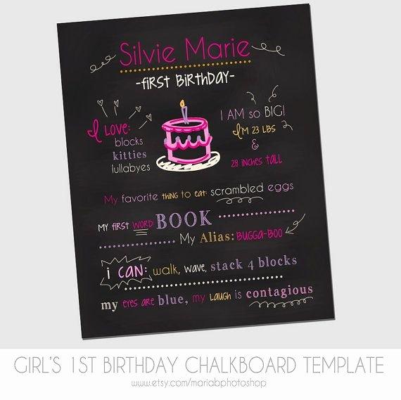 1st Birthday Chalkboard Template Elegant 17 Best Ideas About Chalkboard Template On Pinterest