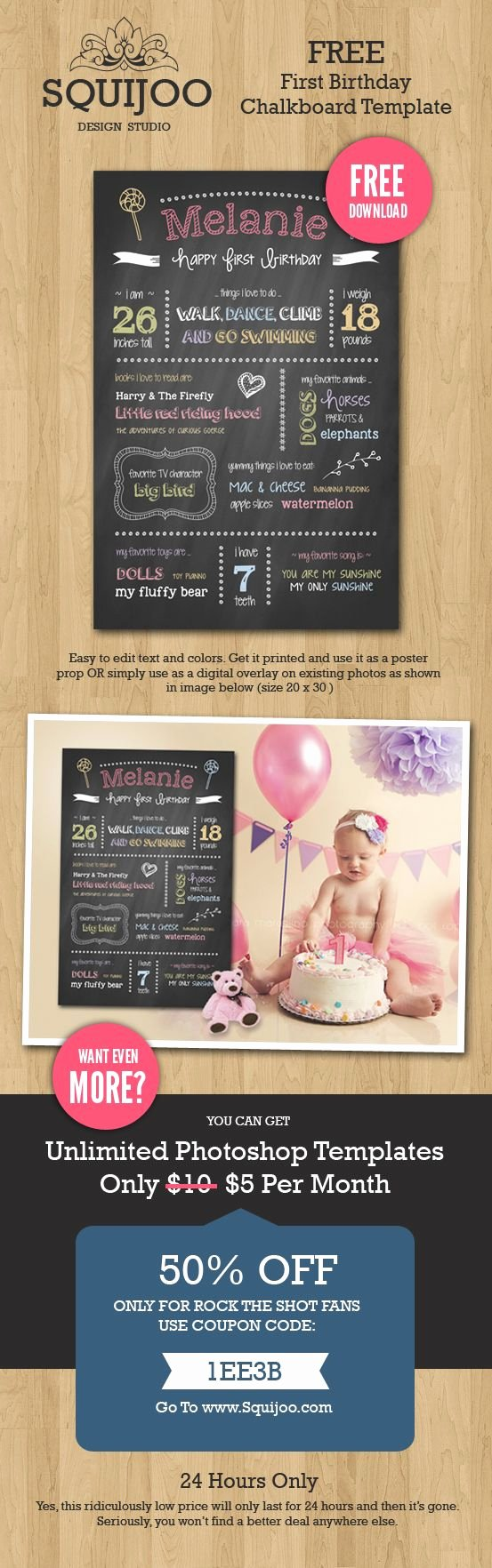1st Birthday Chalkboard Template Luxury Birthday Chalkboard Yearly and Kid Photos On Pinterest