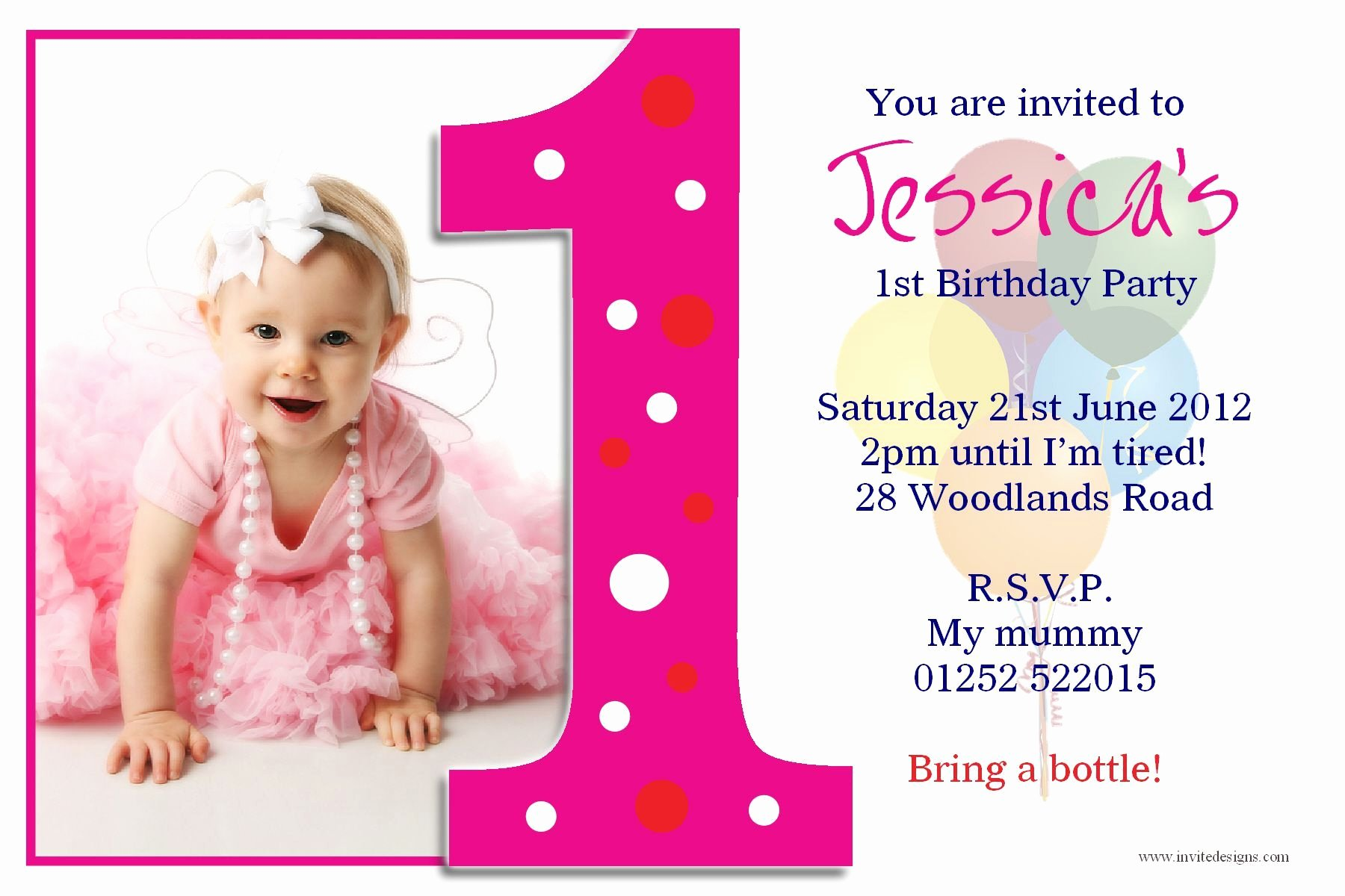 1st Birthday Invitation Wording Samples Awesome Birthday Party First Birthday Invitations Card