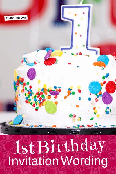 1st Birthday Invitation Wording Samples Best Of 1st Birthday Invitation Wording Allwording