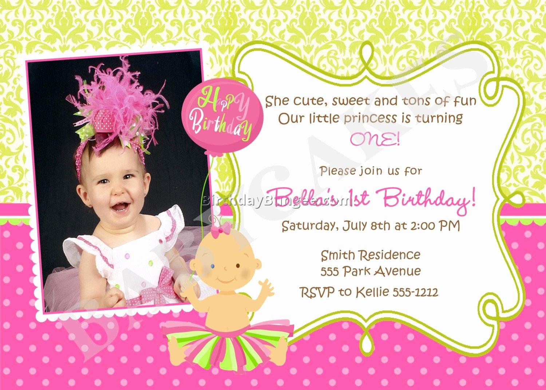 1st Birthday Invitation Wording Samples Best Of 21 Kids Birthday Invitation Wording that We Can Make