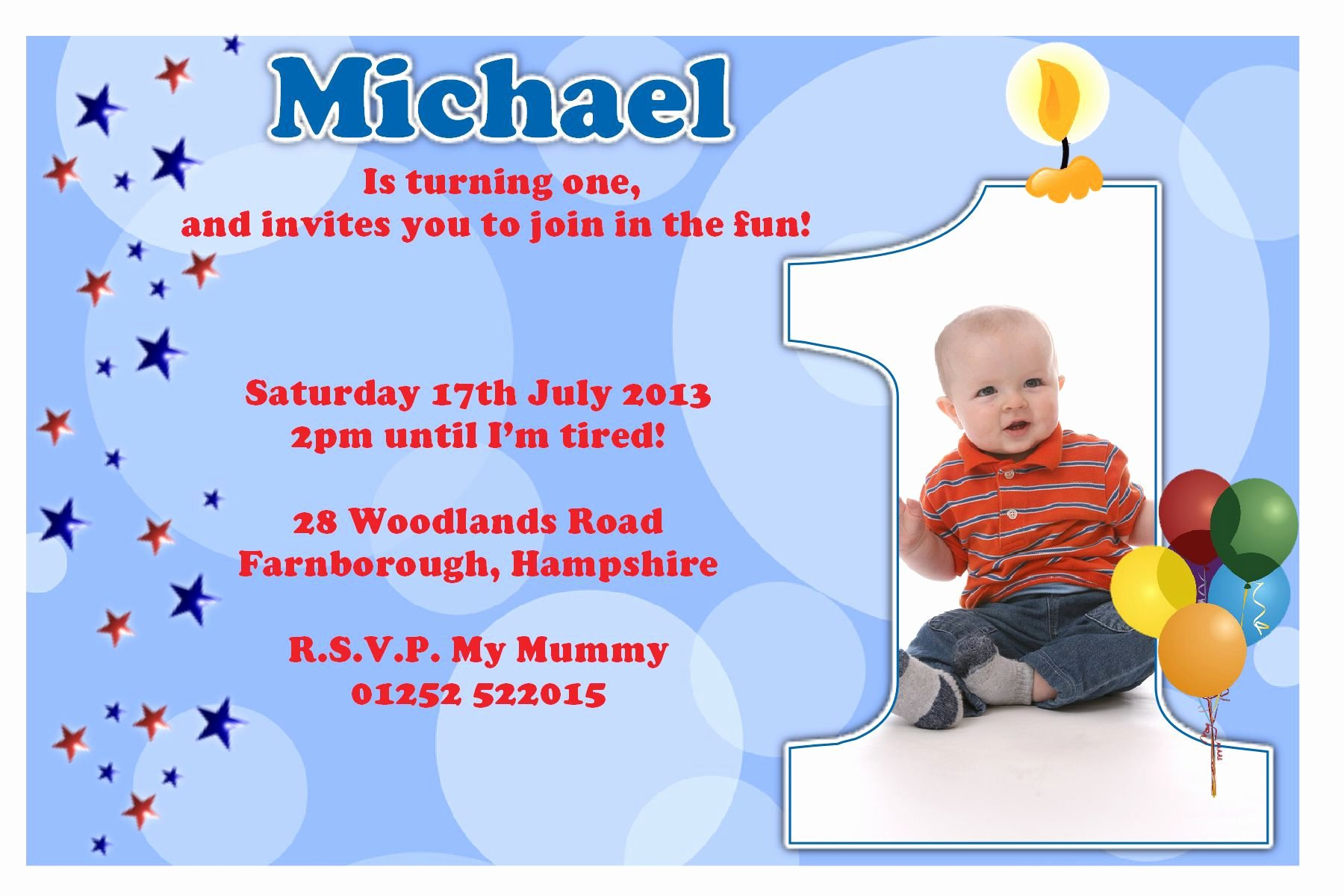 1st Birthday Invitation Wording Samples Best Of Birthday Party Invitation Template Sample