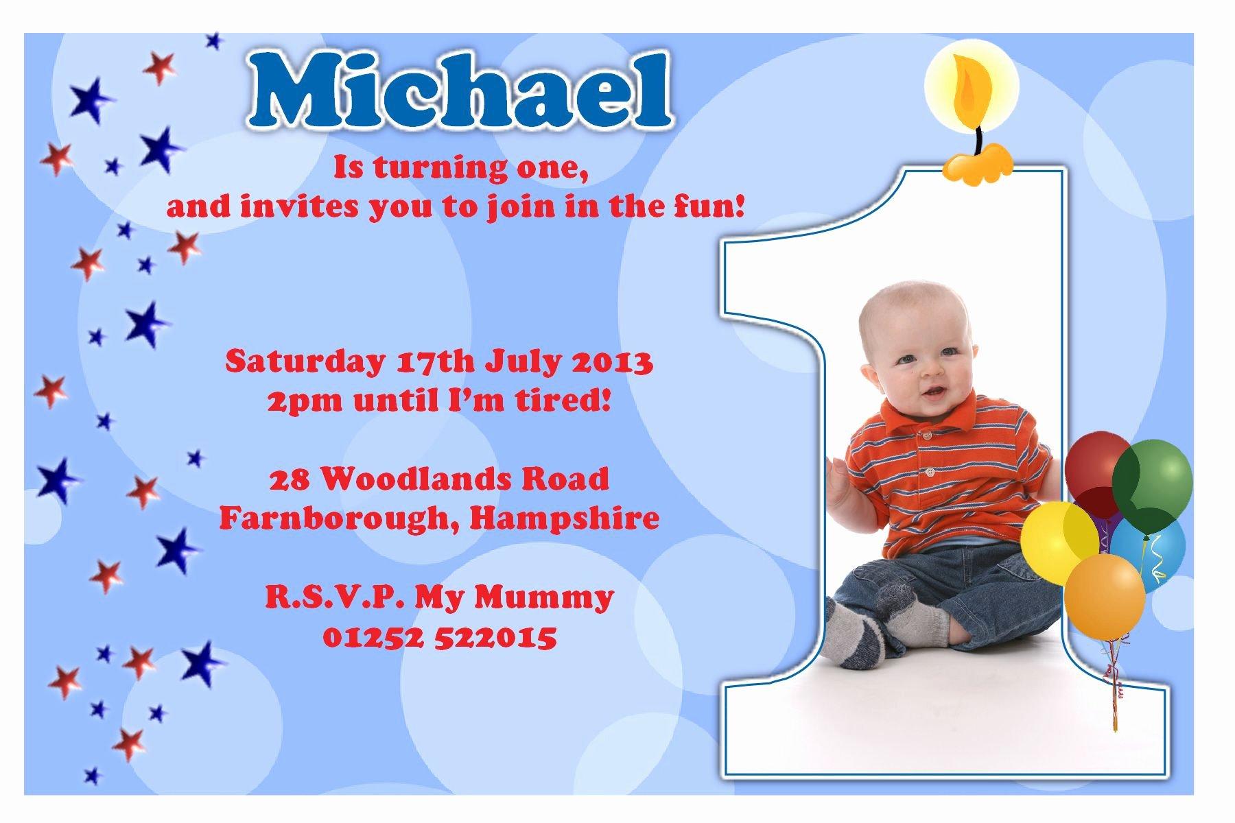 1st Birthday Invitation Wording Samples Best Of Birthday Party Invitation Template Sample