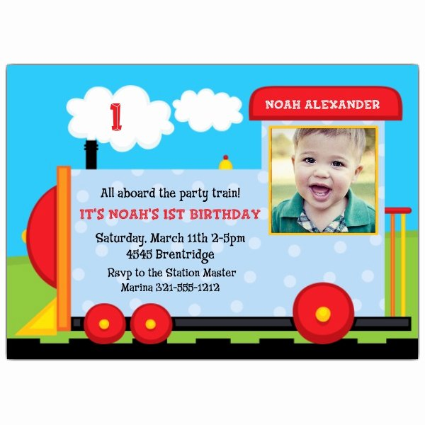 1st Birthday Invitation Wording Samples Elegant Choo Choo First Birthday Invitation