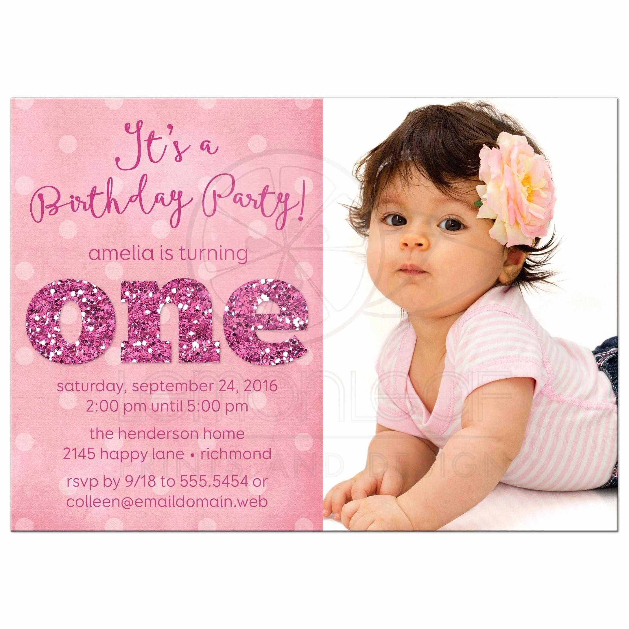 1st Birthday Invitation Wording Samples Fresh ist Birthday Party Invitations Sparkle E In 2019