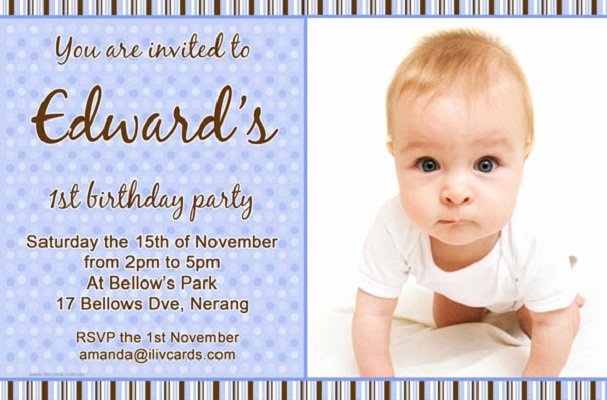 1st Birthday Invitation Wording Samples Luxury Boys Birthday Invitation Card Templates
