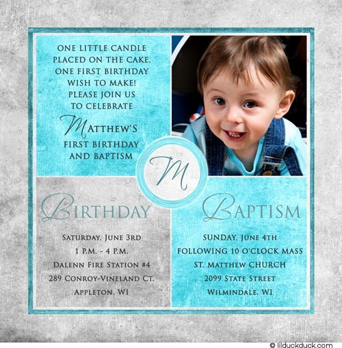 1st Birthday Invitation Wording Samples New Free Printable First Birthday and Baptism Invitation