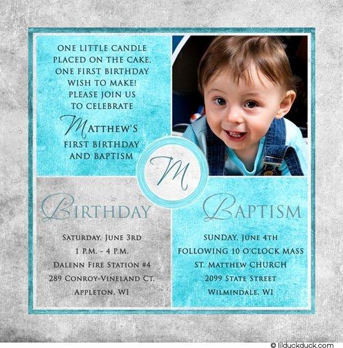 1st Birthday Invitation Wording Samples New Free Printable First Birthday and Baptism Invitation