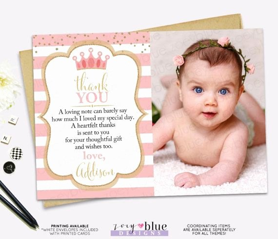 1st Birthday Thank You Awesome Pin by Elise Every On 1st Birthday Thank You Card Messages