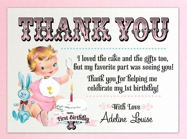 1st Birthday Thank You Beautiful 78 Best Ideas About Thank You Card Wording On Pinterest