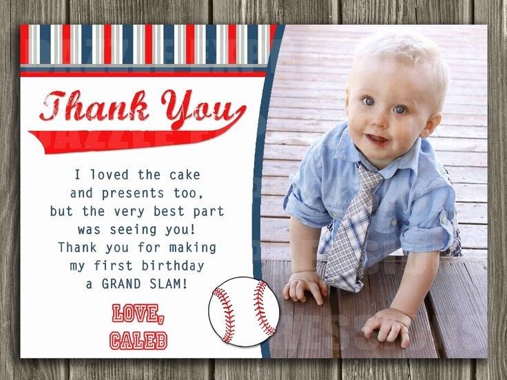 1st Birthday Thank You Beautiful Baseball Thank You Card Printable $10 00 Via Etsy