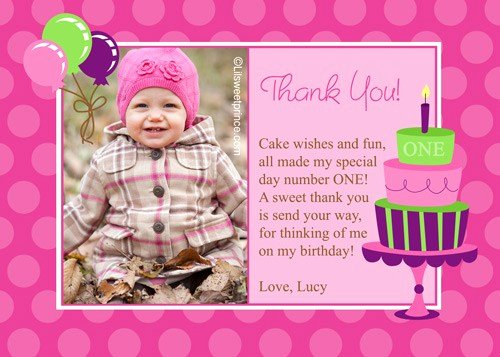 1st Birthday Thank You Elegant 1st Birthday Quotes for Cards Quotesgram