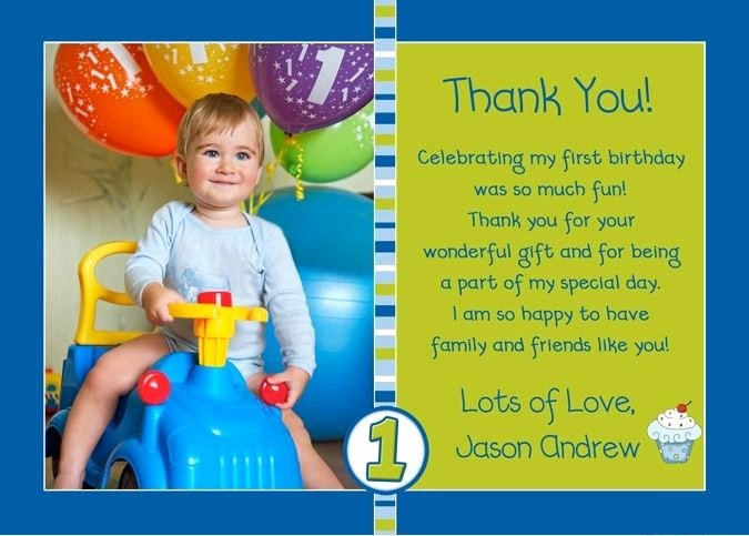 1st Birthday Thank You Fresh Pin by Elise Every On 1st Birthday Thank You Card Messages