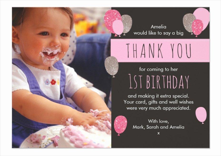 1st Birthday Thank You Lovely 18 Stunning Thank You Cards Editable Psd Vector