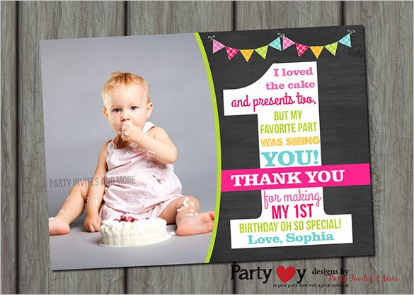 1st Birthday Thank You Unique 21 Birthday Thank You Cards – Free Printable Psd Eps