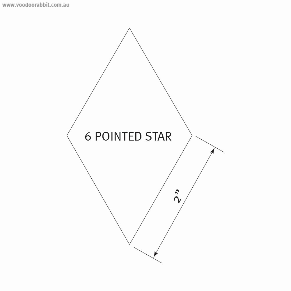 2 Inch Star Stencil Awesome English Paper Piecing Pre Cut Papers 6 Pointed Star 2
