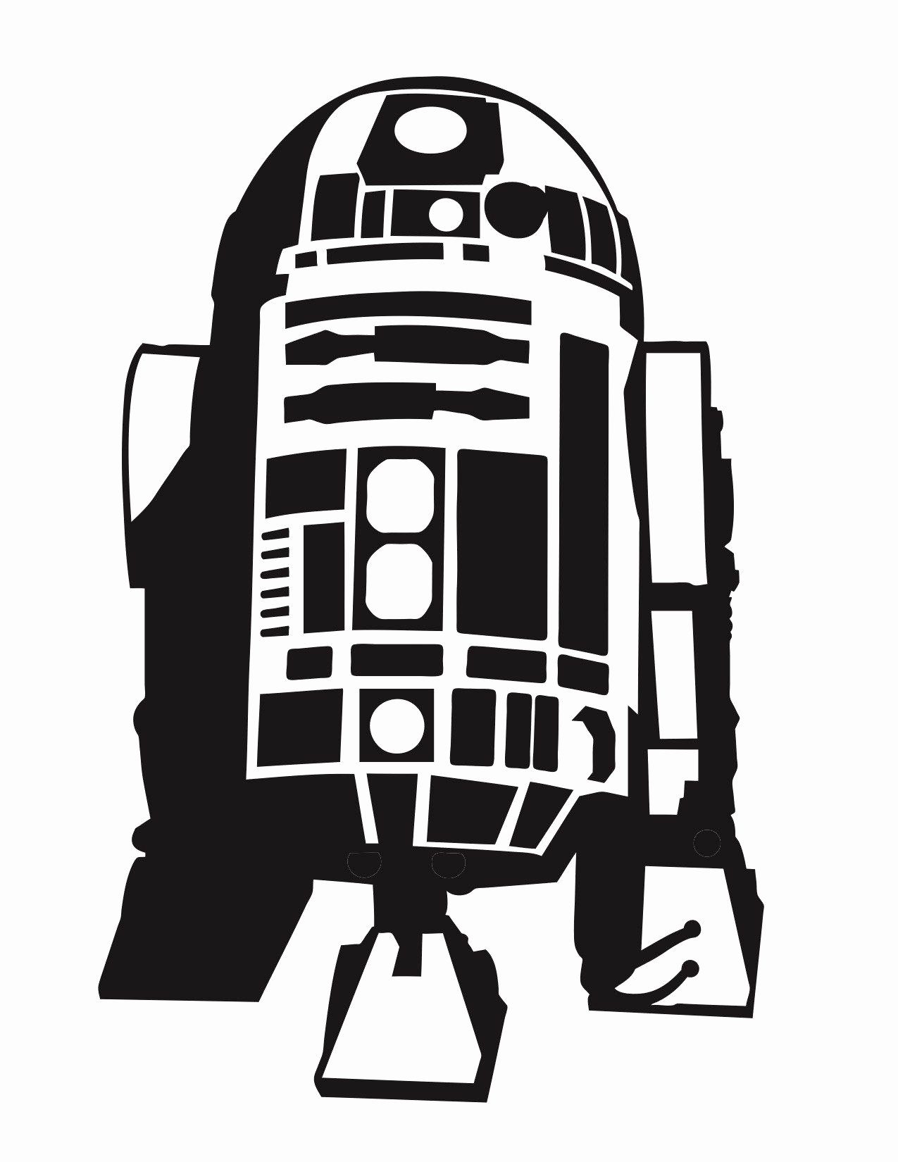 2 Inch Star Stencil Elegant R2d2 Silhouette Vector at Getdrawings