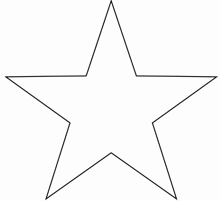 2 Inch Star Stencil Elegant Star Template to Print Large
