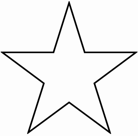 2 Inch Star Stencil Elegant Stars to Print and Cut Out Star Shape Cutouts