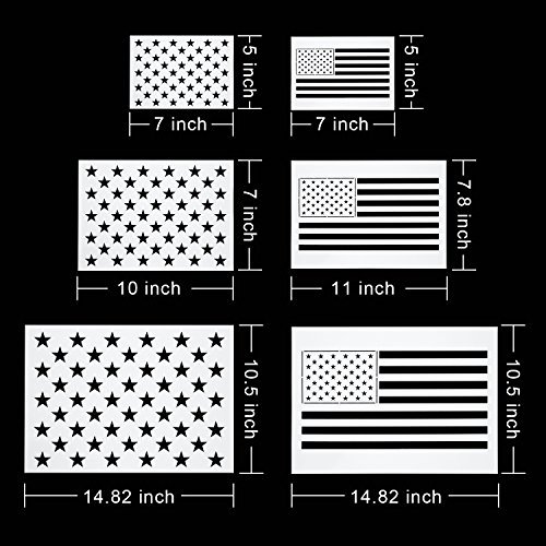 2 Inch Star Stencil Fresh Blulu Star Stencil 50 Stars American Flag Template 2 In 1