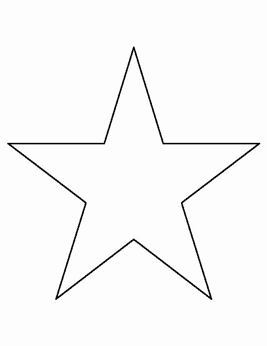 2 Inch Star Stencil New 8 Inch Star Pattern Use the Printable Outline for Crafts
